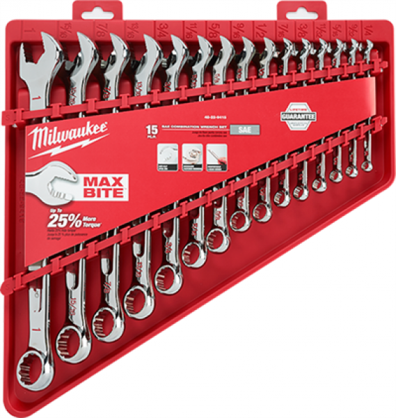 Milwaukee 15 pc Combination Wrench Set
