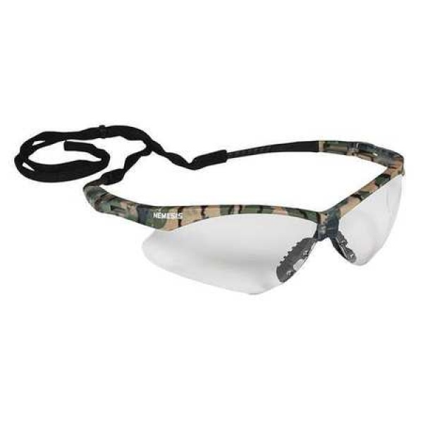 JACKSON NEMESIS SAFETY GLASSES WITH CAMO FRAME CLEAR ANTI-FOG LENS